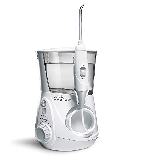 Waterpik WP-660EU Aquarius - Irrigador dental, 100-240V, depósito de agua de 650 ml, Blanco