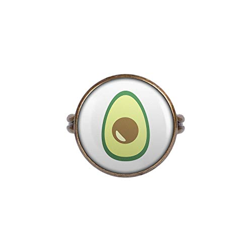 Mylery Anillo con Motivo Aguacate Bronce 16mm