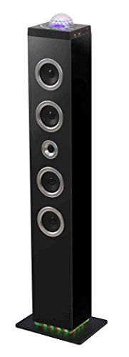BigBen TW10 - Equipo de Home Cinema, 120 W, con Bluetooth, USB, SD, MP3, Radio FM, Bola de Leds en la Parte Superior, Negro