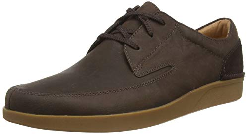 Clarks Oakland Craft, Zapatos de Cordones Derby Hombre, Marrón (Dark Brown Nub Dark Brown Nub), 41 EU