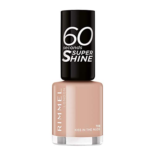 Rimmel London 60 Seconds Super Shine #708-Kiss in The Nude - 1 unidad