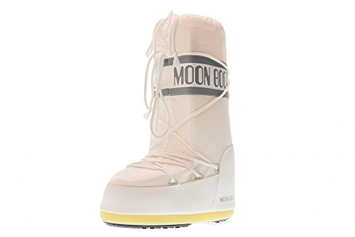 MOON BOOT Nylon, Botas de Nieve Unisex, Blanco White 006, 39