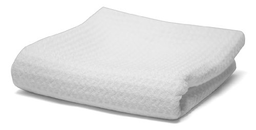 Mammoth Microfibre MM-WWG All Glass Cleaning Waffle Weave Microfiber Towel, White