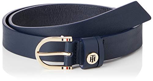 Tommy Hilfiger Classic Belt 2.5 Cinturón, Sky Captain, 85 para Mujer