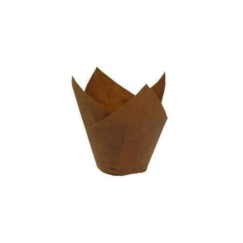 Bakery direct 200 Chocolate brown Tulip coffee shop muffin wraps by bakery direct