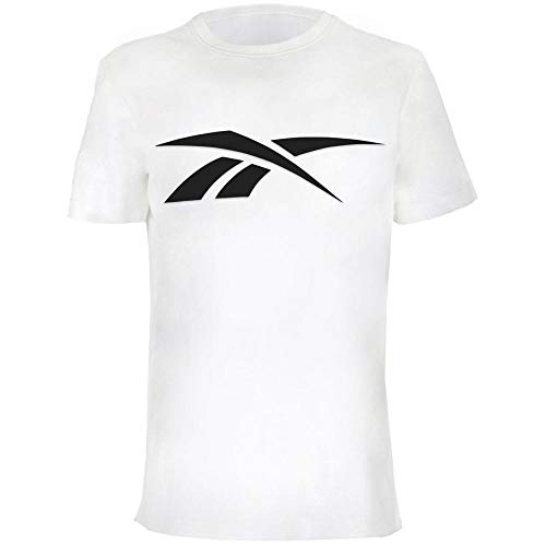 Reebok Camiseta Big Vector Logo, Niños, White, L