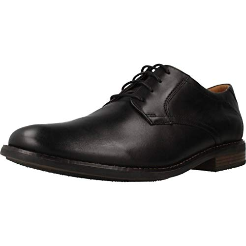 Clarks Becken Lace, Zapatos de Cordones Brogue Hombre, Negro (Black Leather), 42 EU