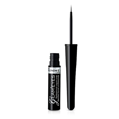Rimmel London, Delineador Líquido tono 001 Black Glamour, 3.5 ml