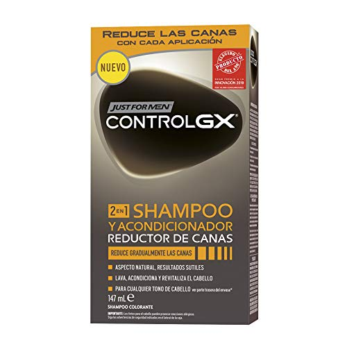 Just For Men Control GX - Champú y Acondicionador Reductor de Canas para Hombres - 147 ml