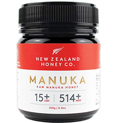 New Zealand Honey Co. Miel de Manuka MGO 514+ / UMF 15+ | Nueva Zelanda Miel 100% Pura y Saludable | 250g