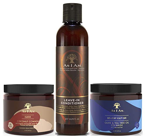 As I Am Coconut Co Wash 454g, Leave in Conditioner 237ml & Dry and Itch Co Wash 454G