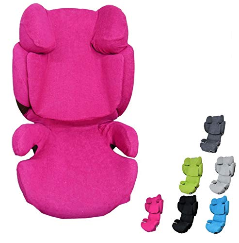 YoungSmile - Funda universal para Cybex SOLUTION Q, Q-FIX, Q2, Q2-FIX, Q3, Q3-FIX, SOLUTION Z-FIX (4 estaciones), color rosa