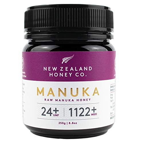 New Zealand Honey Co. Miel de Manuka MGO 1122+ / UMF 24+ | Nueva Zelanda Miel 100% Pura y Saludable | 250g