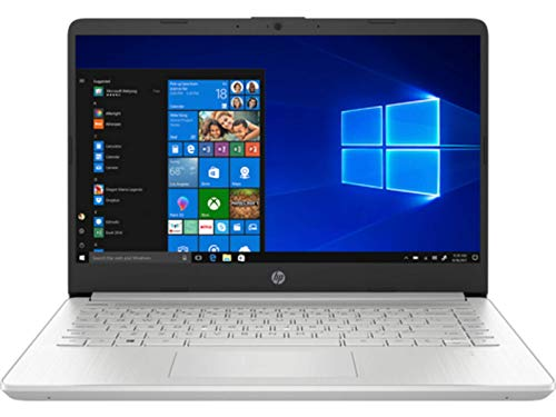 HP 14s-dq1040ns - Ordenador portátil de 14' FullHD (Intel Core i3-1005G1, 8GB RAM, 256GB SSD, Intel UHD Graphics, Windows 10 Home) plata - Teclado QWERTY Español