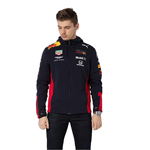 Red Bull Racing Official Teamline Zip Sudadera con Capucha, Hombres Large - Original Merchandise