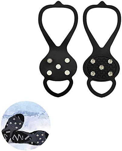 Universal Anti-Slip Over Shoe Durable Cleats Good Elasticity for Angled Terrain, Icy Roads, Icy driveways, Muddy and Wet Grass