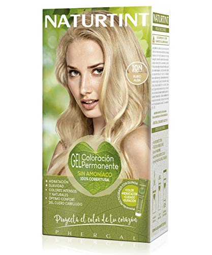 Naturtint Tinte sin Amoniaco, Ingredientes Vegetales, Tono 10N Rubio Alba, 170 ml