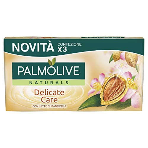 PALMOLIVE NATURALS DELICATE CARE WITH ALMOND MILK LOTE 3 piezas