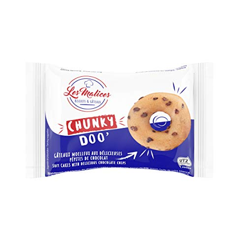 Les Malices - Chunky Doo Chocolate Chip Donuts, paquete de 50 (1500 g)