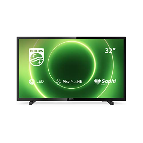 Televisor Philips 32PHS6605/12 de 32 Pulgadas (LED TV, Pixel Plus HD, Saphi Smart TV, Altavoces de Rango Completo, 3 x HDMI, 2 x USB, Ideal para Gaming), Color Negro Brillante (Modelo de 2020/2021)