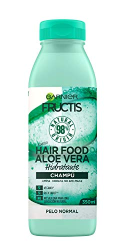 Garnier Fructis Hair Food Champú de Aloe Vera Hidratante para Pelo Normal, Negro - 350 ml