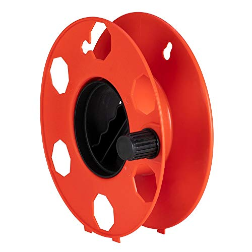 Poly Pool PP2603 Rolly - Rodillo enrollable para transporte y sistema de cables, extensiones eléctricas, cuerdas, tubos flexibles, rojo