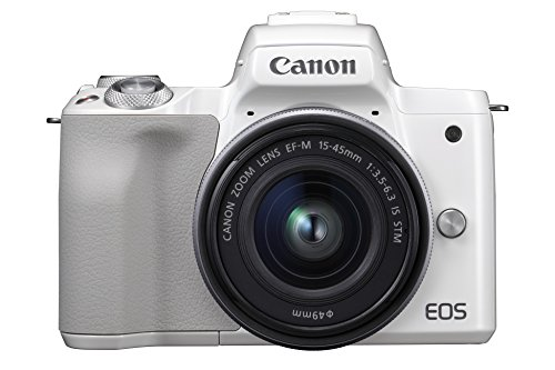 Canon EOS M50 - Kit de cámara EVIL de 24.1 MP y vídeo 4K con objetivo EF-M 15-45mm IS MM (pantalla táctil de 3', estabilizador óptico, Wifi), color blanco