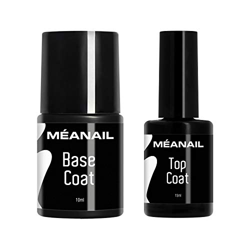 Top Coat y Base Coat Permanente Uñas Gel UV LED Manicura y Pedicura Ideal Lampara Secador de Uñas Esmalte Semipermanente Polygel Gel de Construccion