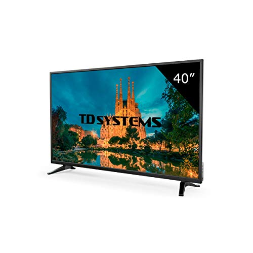 Televisor Led 40 Pulgadas Full HD, TD Systems K40DLM7F. Resolución 1920 x 1080, 3X HDMI, VGA, USB Reproductor y Grabador.