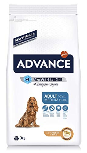 Advance Pienso para Perros Medium Adult, Normal, 3 kg