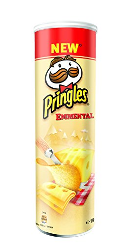 Pringles Emmental Cheese - 3 Paquetes de 190 gr - Total: 570 gr