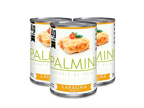 Palmini lasaña Baja en carbohidratos | 4 g de Carbohidratos | Visto en Shark Tank | sin Gluten (14 Onzas - Pack of 3)