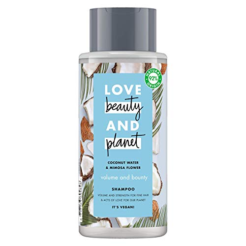 Love Beauty and Planet Champú agua de coco y flor de mimosa Volume and Bounty - 400 ml