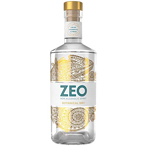 ZEO Botanical Dry Alcohol Free Spirit – 70cl Premium Non Alcoholic Spirit with Caraway Seeds, Meadowsweet, Liquorice Root, Citrus & Spice Botanicals - Great Alternative to Gin and Vodka