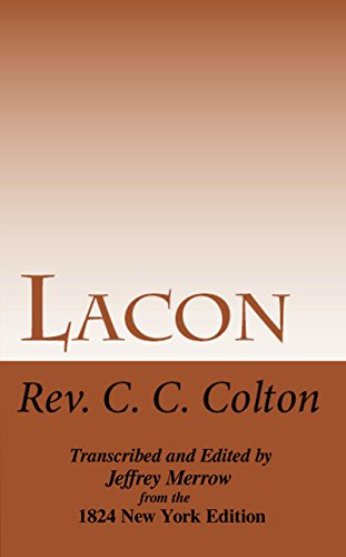 Lacon: Many Things in Few Words (English Edition)