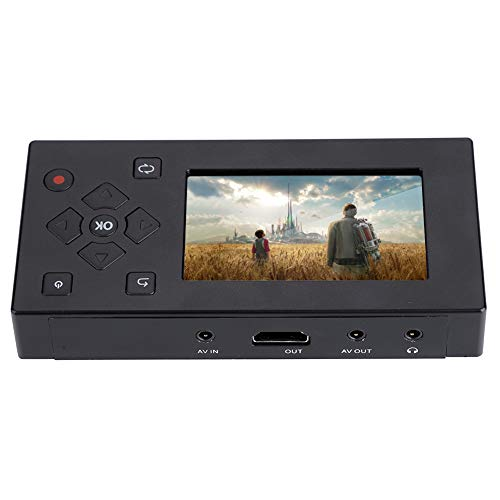 Tangxi Portátil 3 Pulgadas TFT Pantalla AV Grabador Convertidor de Audio y Video Captura de Video Reproductor,VHS a convertidor Digital para capturar Video Desde VCR,Cintas VHS, Hi8,videocámara,DV