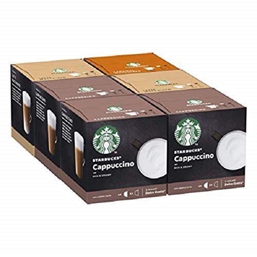 STARBUCKS By Nescafe Dolce Gusto Variety Pack White Cup Coffee Pods, 6 X 12 Cápsulas
