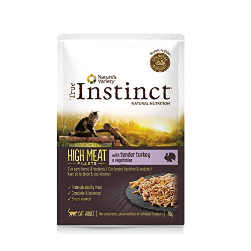 True Instinct High Meat Filletes con Pavo y Verduras para Gatos 70 gr - Pack de 8