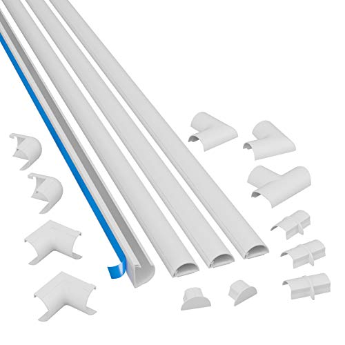 D-Line 3015KIT001 Multipack de Canaleta para Cableado, Blanco, 30x15mm (Mini), Set de 4 Piezas