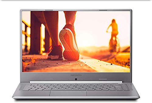 Medion Akoya S6445 - Portátil ultrafino 15.6' FullHD (Intel Core I7-8565U, 16GB RAM, 1TB HDD, Intel UHD Graphics, Windows 10) color gris - Teclado QWERTY Español