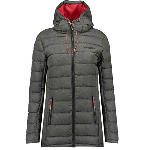 Geographical Norway Astana - Parka con capucha para mujer antracita S