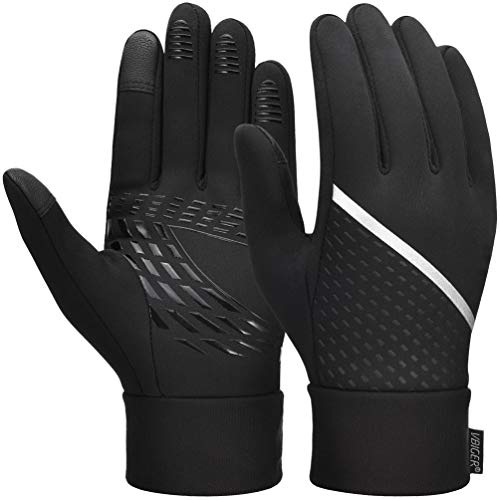 VBIGER Thickened Winter Gloves Touch Screen Gloves Cold Weather Gloves with Anti-slip Silicone and Stretchy Cuff (Negro, S)