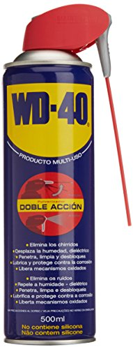 WD-40 340343 Lubricante multiusos, doble acción (500 ml), Color Unico, 500ml