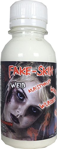 King of Halloween Latex Milk, Skin 100ml for Wounds and Scars and Clear Make-Up Skin Tone Perfect for use with Faux Blood