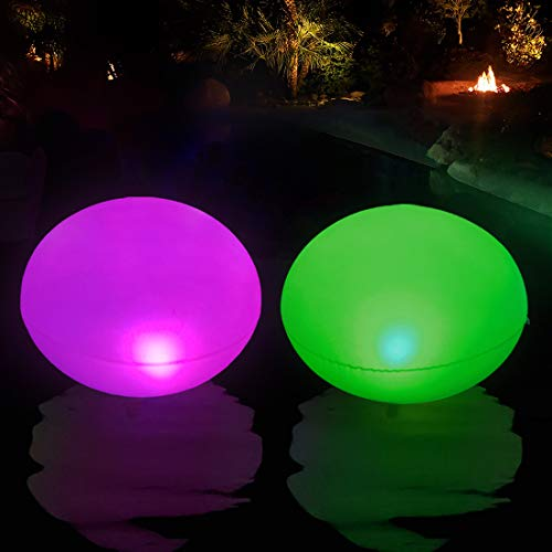 Luces Solares Flotante e Inflable, Luz LED para piscina, IP68 Impermeable Luz Solar de Jardín, luz LED Cambia Color al Aire Libre Decoración para Estanques, Boda, Fiesta, Playa, Césped, Camino 1 PCS