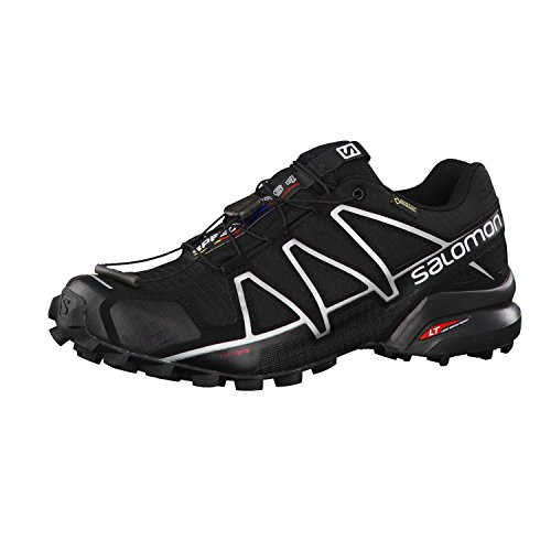 Salomon Speedcross 4 GTX, Zapatillas de Trail Running Hombre, Negro (Black/Black/Silver Metallic-X), 44 EU