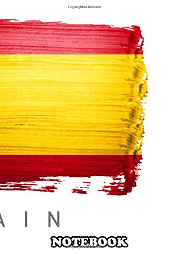 Notebook: Spain Flag Map Country Europe Madrid , Journal for Writing, College Ruled Size 6' x 9', 110 Pages