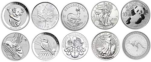 Silver Coin Collection, Top10 Silver Coins, New, 2020, in Coin Capsules