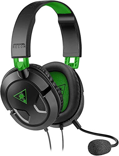 Turtle Beach Recon 50X Auriculares Gaming Xbox One, PS4, PS5, Nintendo Switch y PC, Negro / Verde