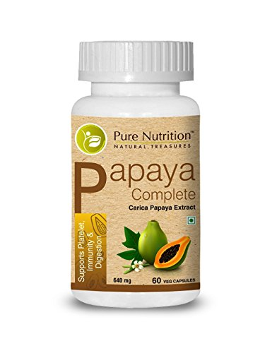 Pure Nutrition Papaya Complete (Supports Platelet Immunity & Digestion) - 60 Capsules